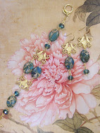 African Opal and Czech Glass Demi Parure