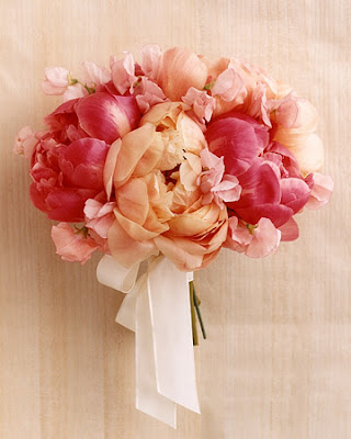reminded me of how much I love peonies in bouquets and centerpieces