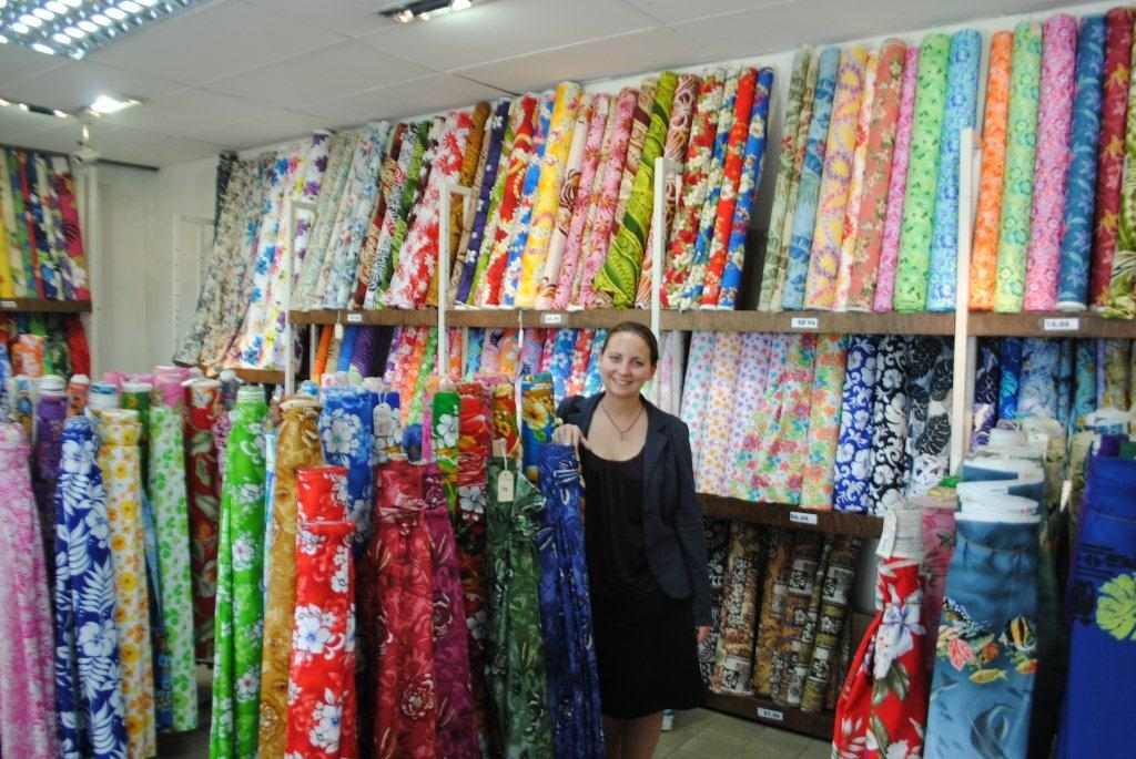 And where she stops shopping in fiji for Fabric retailers