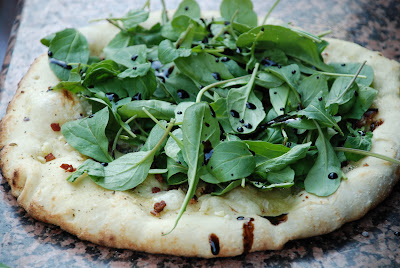 Classic White Pizza with Arugula and Balsamic