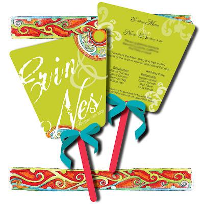 Wedding Fans Programs on Wedding Program