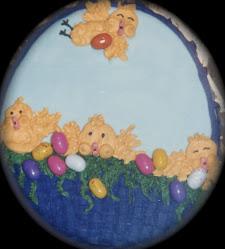 Cesta con Pollitos de Pascua