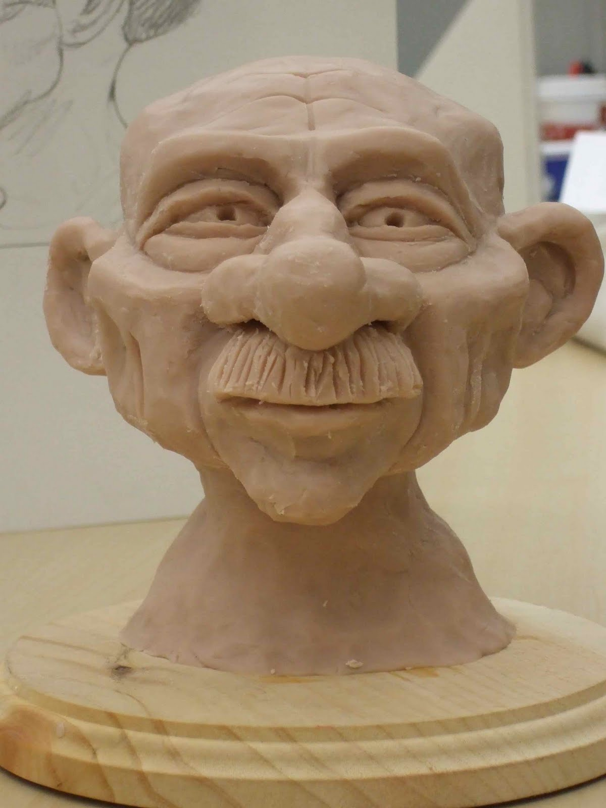 Sketch of the day clay sculpture
