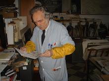 Joan Barbarà al seu estudi