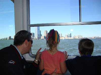 On the ferry to see the Statue of Liberty