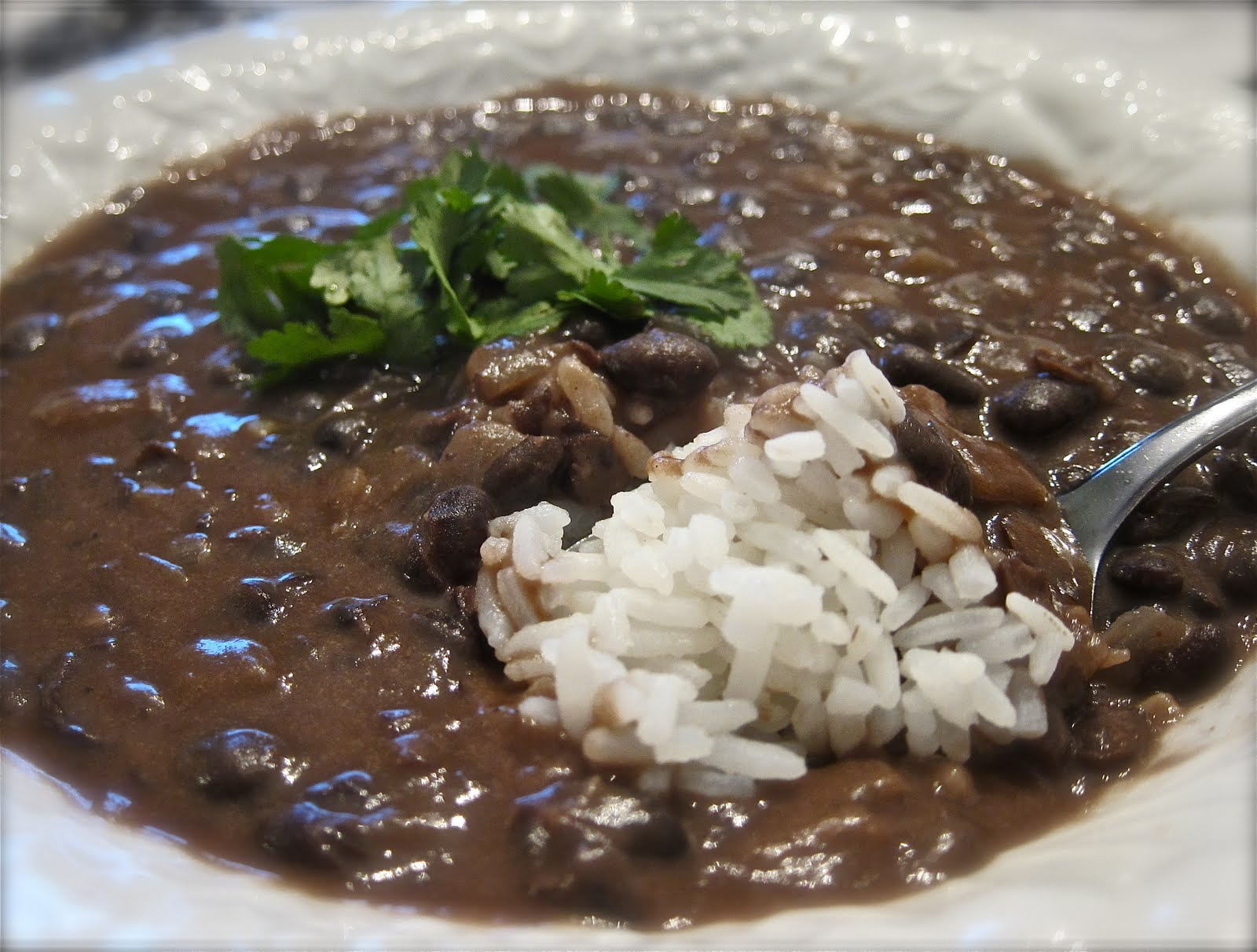 Women Living Well Blog: Healthy Black Bean Soup With Rice
