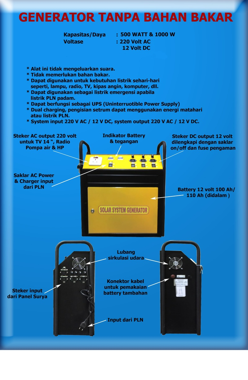 Generator Listrik Tanpa Bahan Bakar | News Of The Worlds