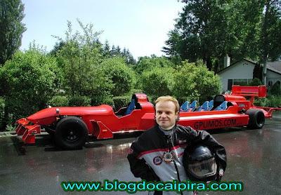 Barrichello após abandonar a F1
