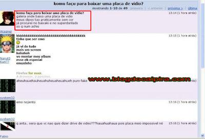 baixar placa de video pelo orkut