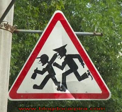 placa proibido ficar bebado