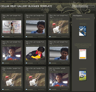 Cellar Heat Gallery Blogger Template