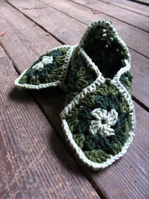 Angelarae Knits: A Crochet Project - Granny Square Slippers