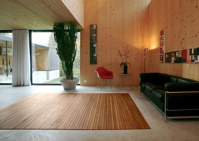 Alfombras modernas alfombras de madera para decorar fotos de decoracion de interiores de casas - Alfombras de madera para salon ...