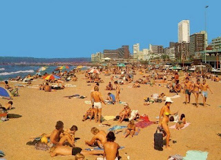 South African Jokes Durban S Beach Then And Now