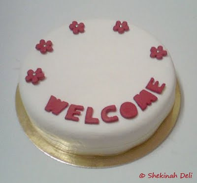 Hello! I'm new! :) Welcome+cake