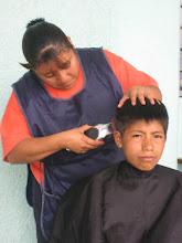 cortes de Cabello en Coatecas Altas,Oax.