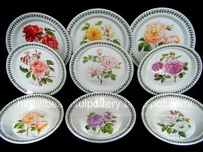 Portmeirion Botanic Roses Full Set & BEAUTIFUL POTTERY: Portmeirion Botanic Roses Full Set