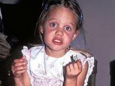 Angelina Jolie childhood pics
