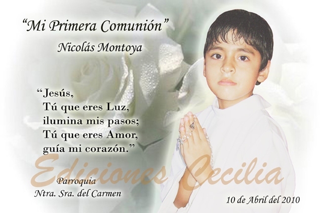Ediciones Cecilia: Mi Primera Comunión