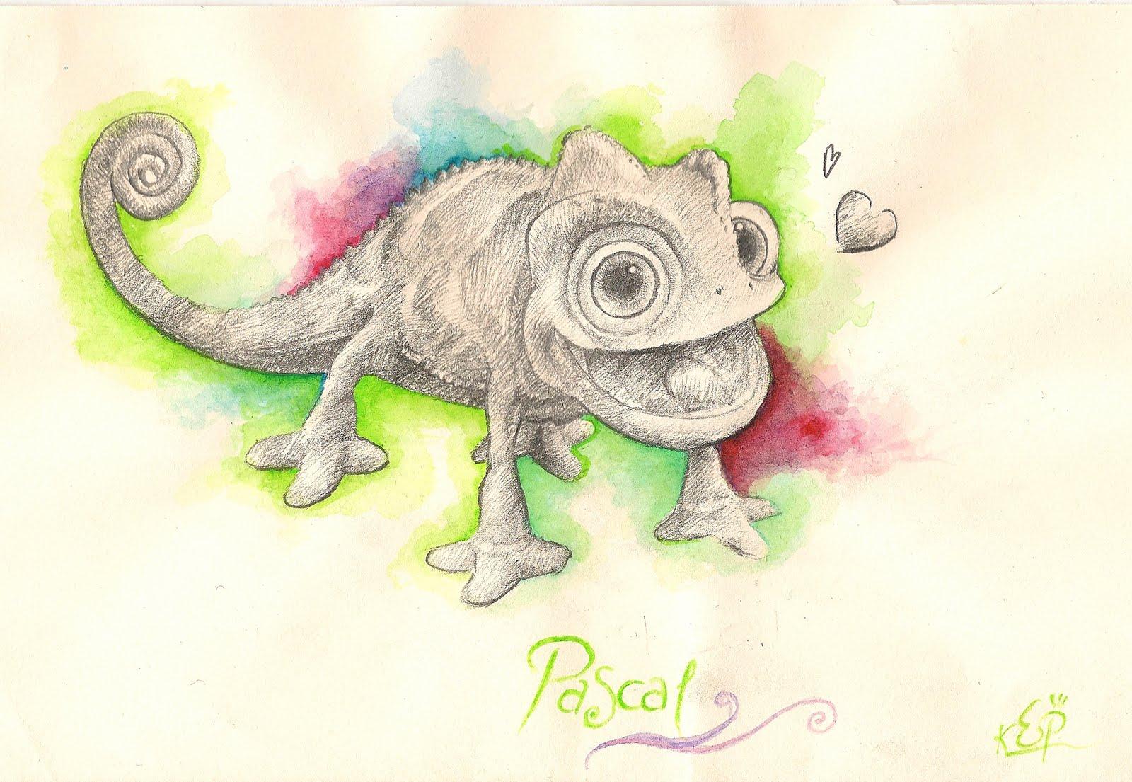 Little J Art: Pascal Le caméléon