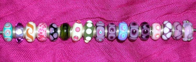Pandora Perlen mit Silberhülsen