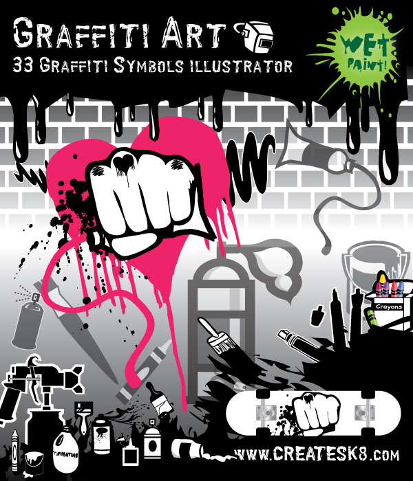 graffiti artwork. graffiti and other art