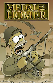 Medal of homer, homer medal of honour, funny simpsons pictures
