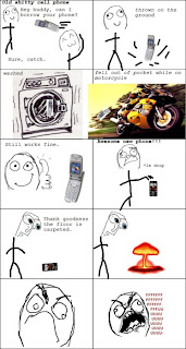 rage comics, ffffuuuu, fffuuu, old vs new mobile phone durability comparison