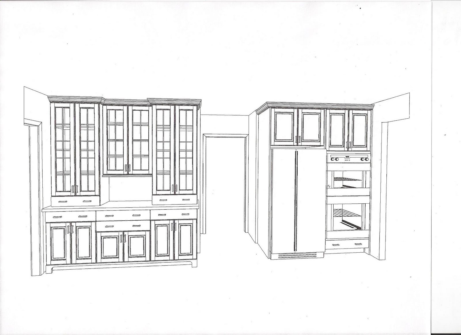 Kitchen CabiElevation Drawings