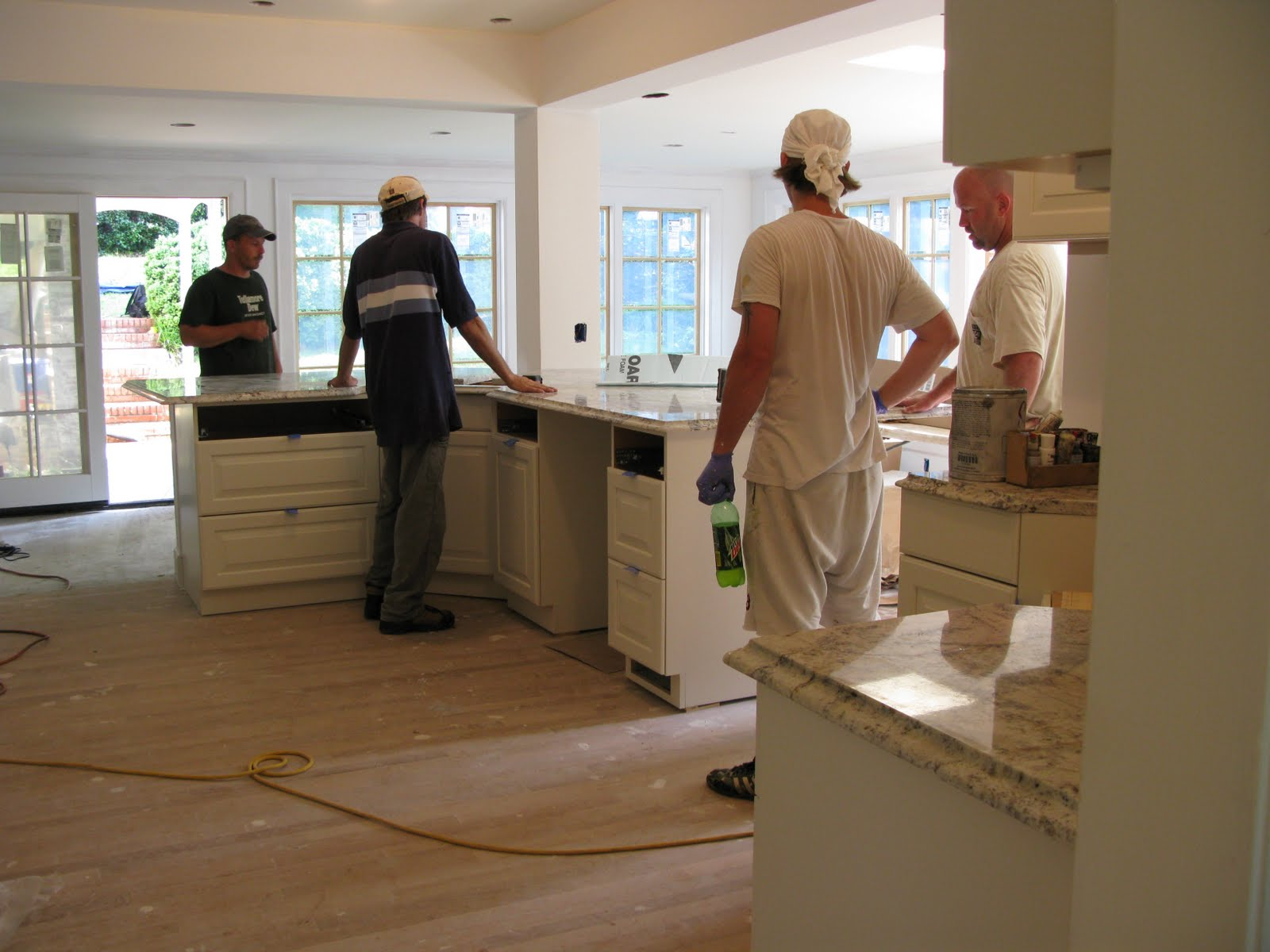 Granite Installation : Janes Home: During: Granite Installation