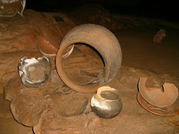 Some broken pottery from Mayan civilizations at ATM Caves
