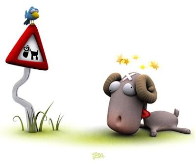 Humor. CUIDADO con los huevos cabra montesa