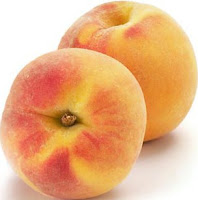 two ripe peaches