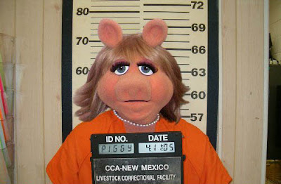Miss Piggy booking photo
