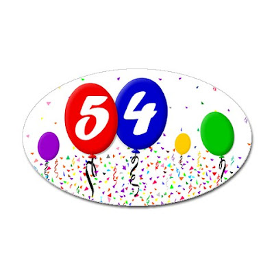 drawing of balloons and confetti happy birthday 54