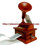 Wood gramophone music box $88
