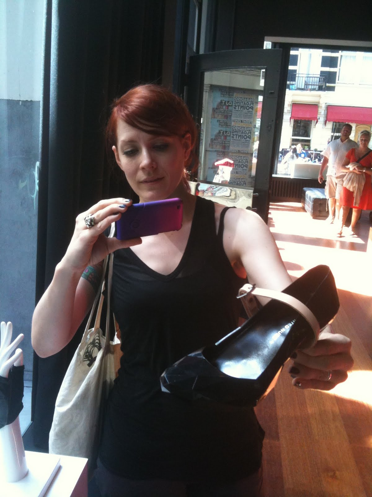 Singer Ana Matronic from the Scissor Sisters @ the United Nude store ...