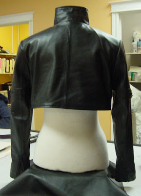 Ghost in the Shell Motoko Kusanagi Leather Shrug Back