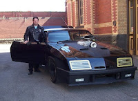 Doug in his AbbyShot Mad Max Jacket with an AMAZING Mad Max Interceptor