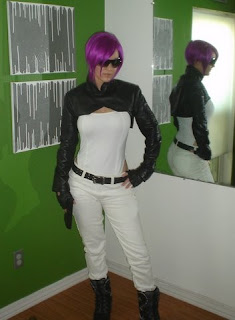 An AbbyShot Customer in her Major Motoko Kusanagi Costume - including GIG Shrug