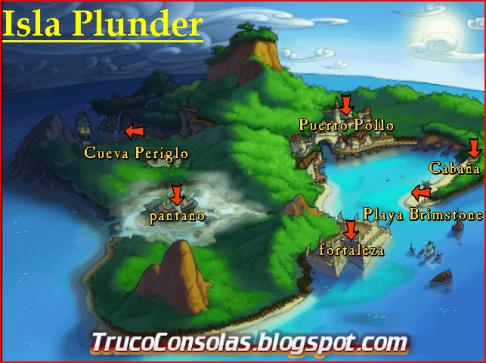 Mapa Isla Plunder