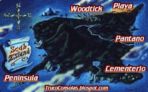 Mapa Isla Scabb
