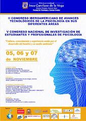 II Congreso Iberoamericano de Avances Tecnológicos de la Psicología en sus Diferentes Áreas