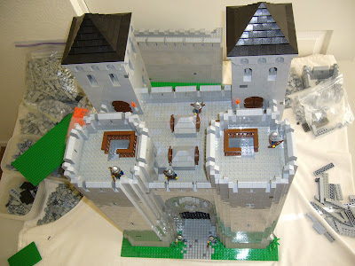 Lego Castles Modular Castle Section Gatehouse Aerial View