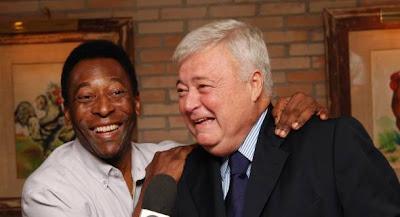 Pelé e Ricardo Teixeira como velhos amigos