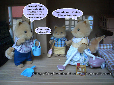 Sylvanian Families Story - Clean up new house.