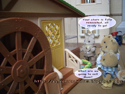 Sylvanian Families Story - wolf's new bakery store.