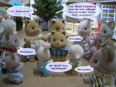 Sylvanian Families Story - big welcome from all Sylvanian.