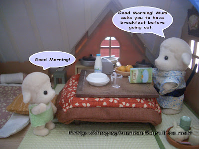 Sylvanian Families Story - Sheepie saw his father.