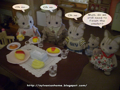 Sylvanian families dining table